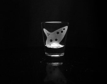 Legend of Zelda Ocarina of Time Shot Glass- Deep Etched