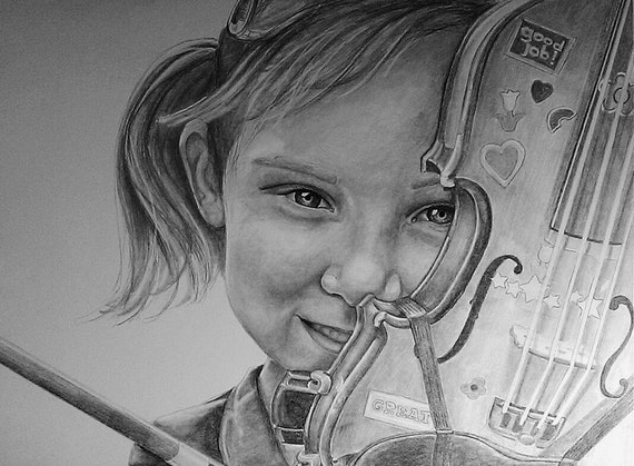 Custom pencil portrait drawn from your photo. Your memories come to life again in Nica's exquisitely detailed portraits. 25% off Sale!
