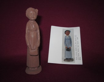 """Church girl,craft-tex#916, 4"""" ,wood resin,unpainted,instructions included,pencil people"""