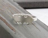 sterling silver batman ring [R_00033]