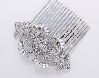 Art Deco Hair Comb Crystal Wedding Comb for Bride Hair Accessories Gatsby Old Hollywood Hair Combs Wedding Jewelry Art Deco Bridal Accessory