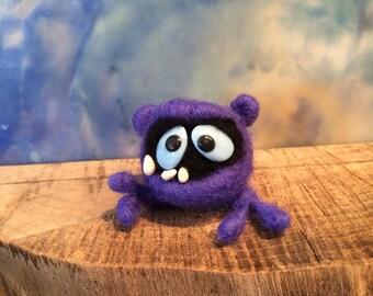 Purple Needle Felted Dust Bunny: Felted Animal, Needle Felted, Custom Felted Animal