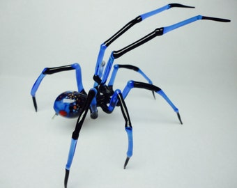 Spider Animals Glass, Art Glass, Blown Glass, Sculpture Made Of Glass, blown glass figurine