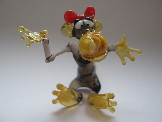 Blown glass monkey collectible figurine monkey glass - Gorilla figurines ...