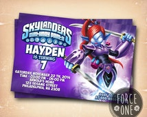 Skylanders Giants Ninjini-Birthday Invitation-Birthday Party-Colorfull Invitation