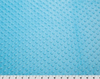 Dimple Dot Minky Cuddle in Turquoise from Shannon Fabric