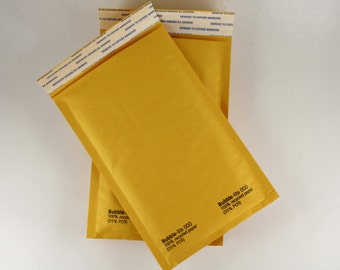 pack of 20 small 000 size kraft padded bubble mailer 4 by 7 usable inside space