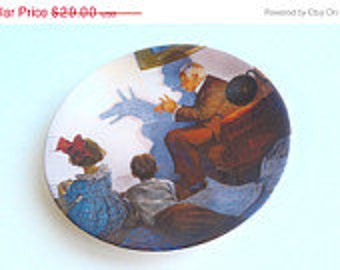 Vintage Norman Rockwell Collectors Plate 1987 The Shadow Artist