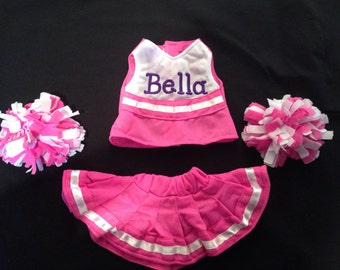 Personalized 18 inch doll cheer outfit