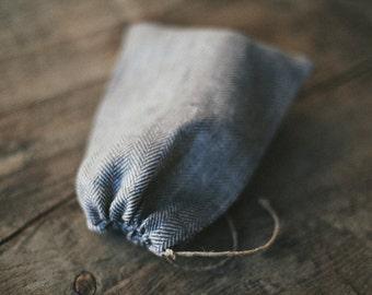 Linen Kitchen Bag / Natural linen / Rustic /  Nuts Bag