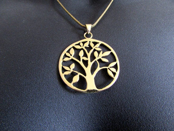 Tree of Life Circle Pendant Necklace Spiritual jewellery Yogi Jewellery  Handmade Free UK delivery BP2