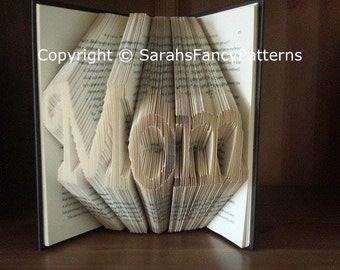Mom Fancy Font - Book Folding PATTERN