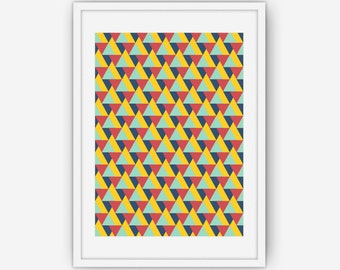 Abstract Triangle Print, Triangle Wall Art, Triangle Pattern Print, Abstract Print, Wall Art, Printable, Instant Download