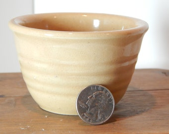 "Vintage miniature McCoy 2 1/2"" pottery bowl marked USA in block"