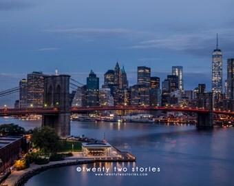New York City Photography Print - Brooklyn Bridge