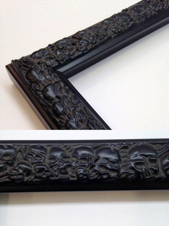 Skull picture frame black 3x5 4x6 5x7 8x10 11x14 for 11x14 frame