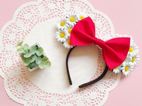 White Daisy Inspired Minnie Ears