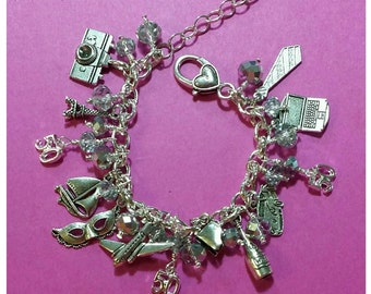 Fifty Shades of Grey Charm Bracelet