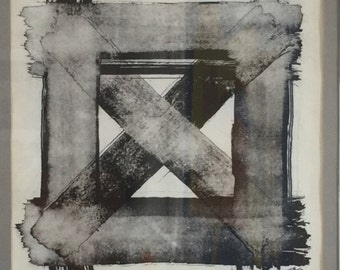 """Ink Drawing Black & White - """"The Square of X"""""""
