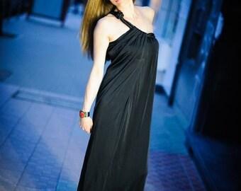 dress/black dress/long dress/elegant dress/romantic dress/evening dress/