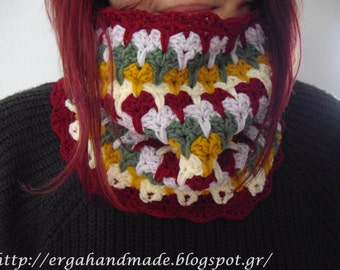 5 Colors Crochet Cowl