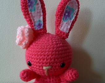 Cute crochet amigurumi bunny
