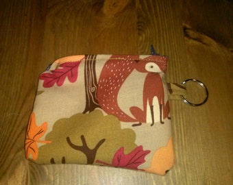 Autumn Foxes Coin Purse