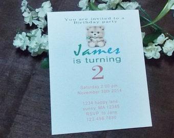 Birthday invitation card with envelope