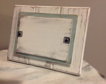 Distressed / Rustic Wood Picture Frames 4x6 or 5x7! White/Blue