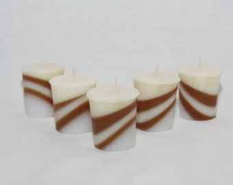 Mint Choc Votive Swirl Candle