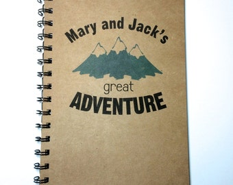 Adventure Notebook, Mountain Notebook, Mountain Vacation, Camping Journal, Travel notebook, Vacation, Personalized, adventure, Outdoor