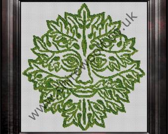 Greenman Cross Stitch Pattern PDF