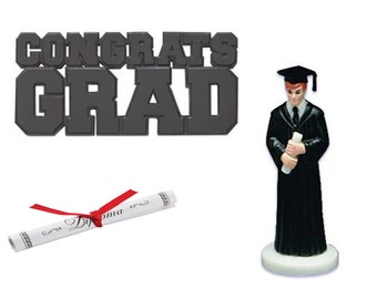 Male or Female Graduation Cake Decorating Set