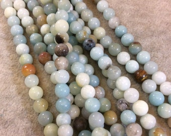 Amazonite Round Bead Strand, 6mm, approx. 64 beads per strand