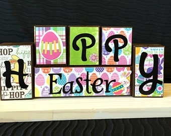 Easter Wood Block Set!!!  This traditional Easter wood block set is perfect to help you get ready for the holiday.
