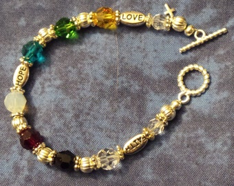 Swarovski Crystal Prayer bracelet