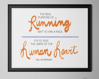 The Real Purpose of Running Poster