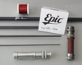 "Epic 888 bonefish special fast glass S2 fibreglass fly rod blank 8'8"" #8wt, 4-piece for custom rod builders"