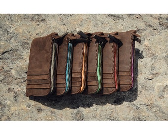 Phone/Cards Clutch Wallet Colored Zip