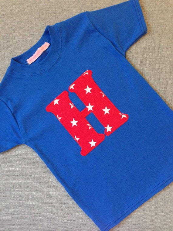 H is for Henry, Harry and happy! Childrens Personalised Initial Tshirt