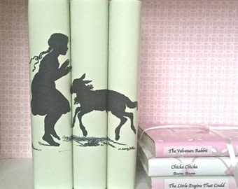 Decorative books - Book art - Fairy Tale - Custom book covers - Interior Decor - Custom book jackets - Book Cover - Bookcase Decor
