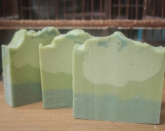 Clover and Aloe, cold process soap, aloe, handcrafted artisan soap