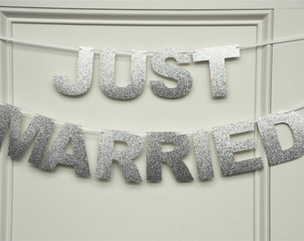 JUST MARRIED Banner, Just Married Garland, Wedding garland, Wedding banner, Wedding decoration