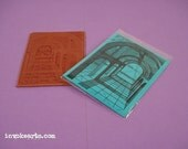 Origin Hall ATC / Invoke Arts Collage Rubber Stamps / Unmounted Stamp
