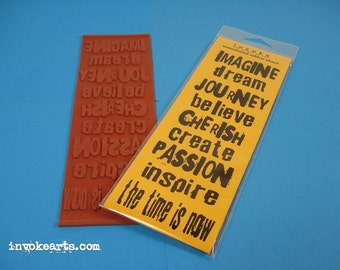 Artwords 1/ Invoke Arts Collage Rubber Stamps / Unmounted Stamp Set