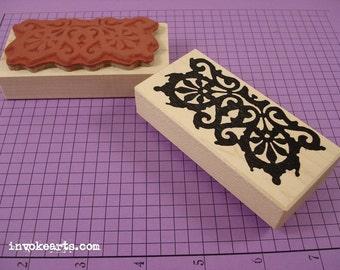 Fret Border Stamp / Invoke Arts Collage Rubber Stamps