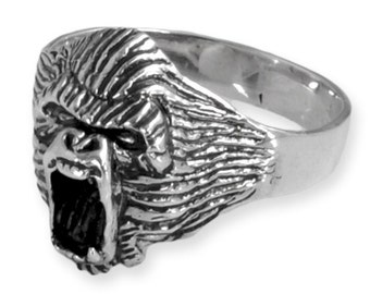 925 Silver Ring handmade with Gorilla Wild Animal Collection Ring