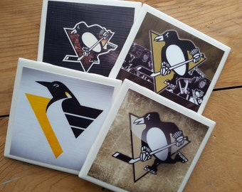 Set of 4 Pittsburgh Penguins Coasters