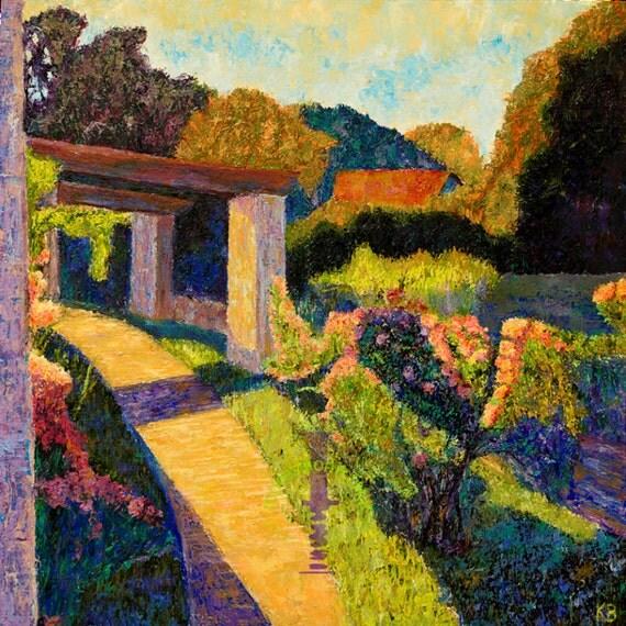 Rose Garden At Loose Park Kansas City Painting By