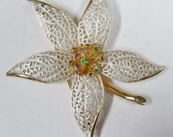 Possibly Trifari Vintage Brooch or Pin with Birthstones